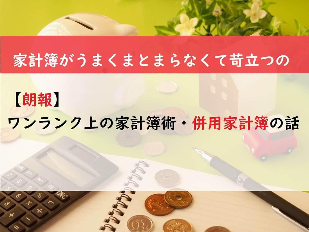 【朗報】ワンランク上の家計簿術・併用家計簿の話