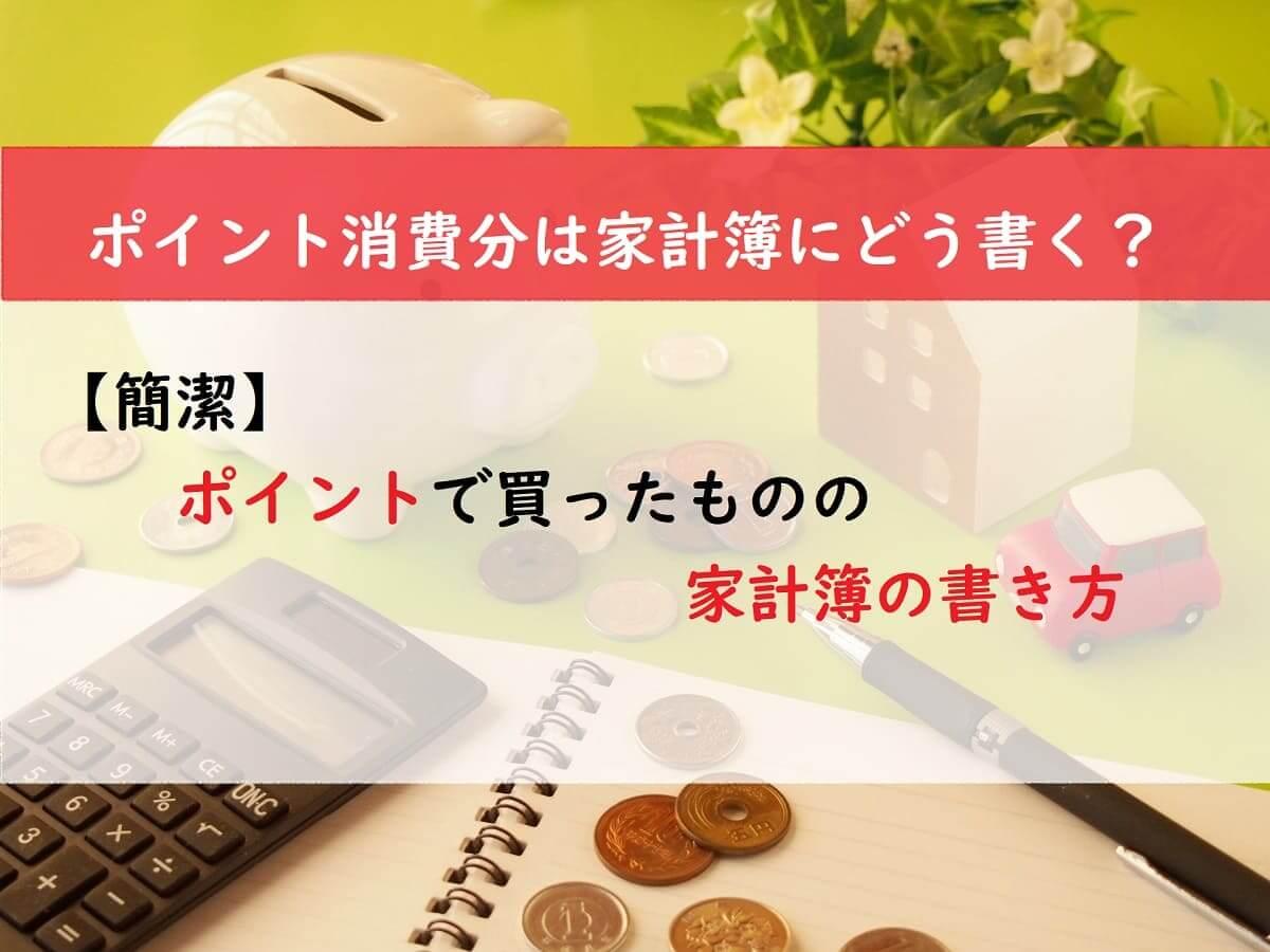【簡潔】ポイントで買ったものの家計簿の書き方